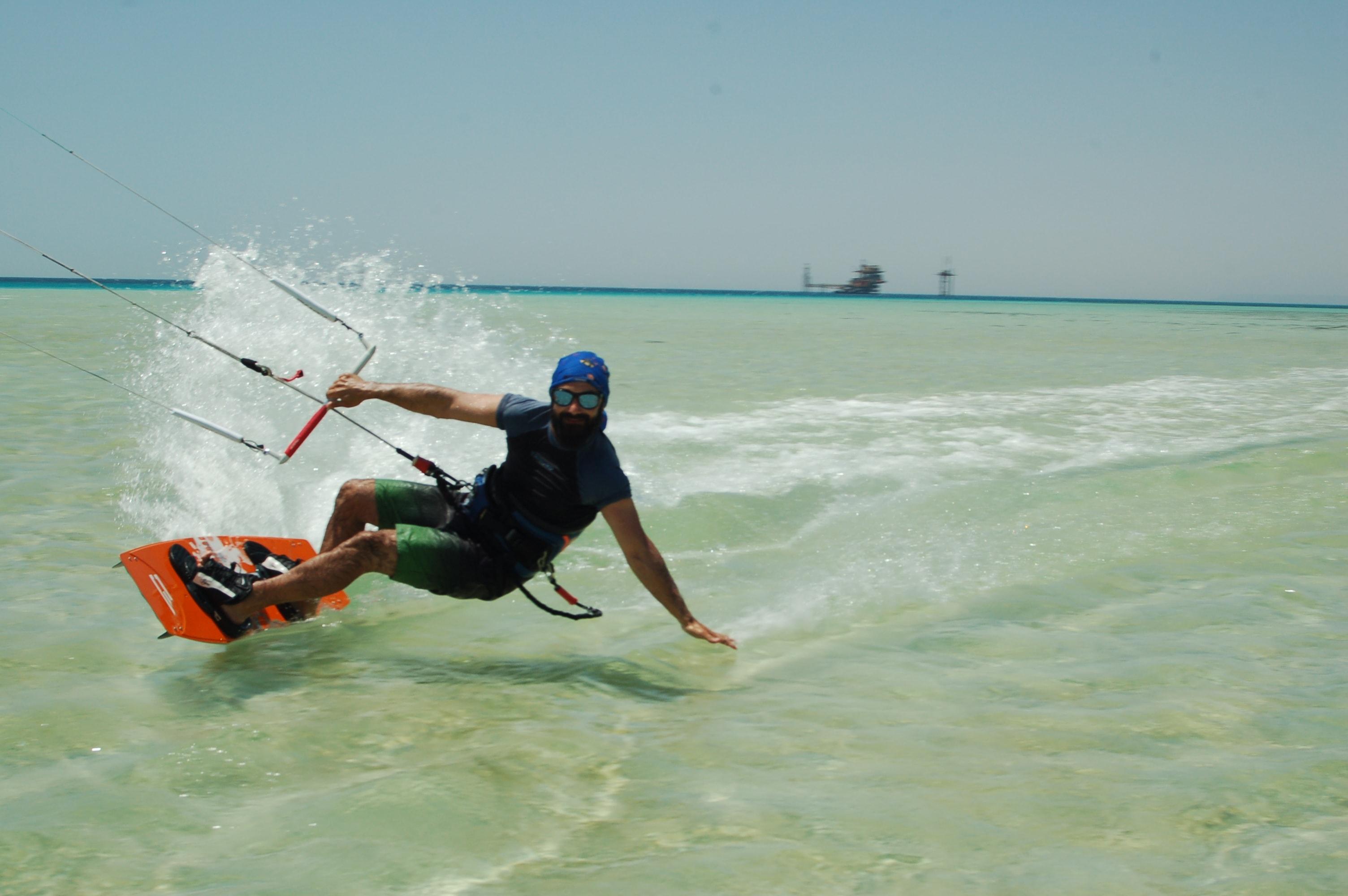 kitesurf en el mar rojo